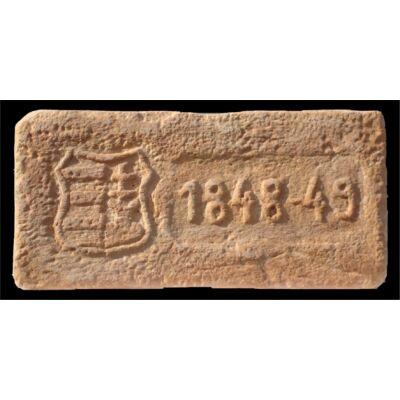 1848-49 mintájú címeres tégla
