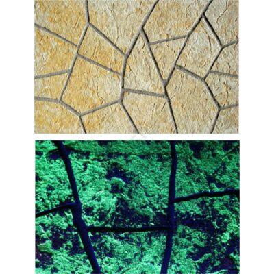 Kornati fénykő falburkolat  zöld színű
