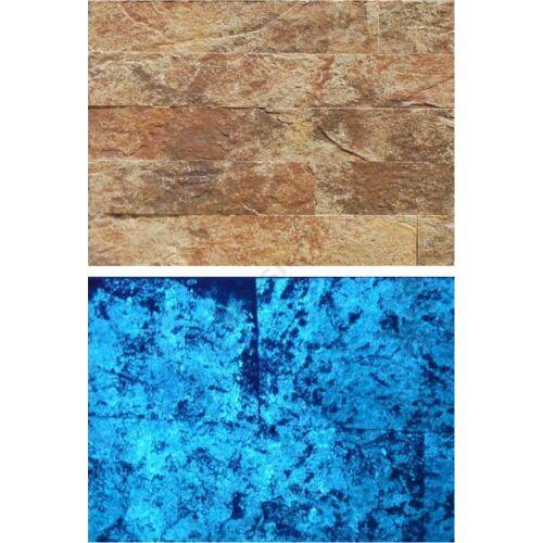 Korfu fénykő falburkolat  kék színű