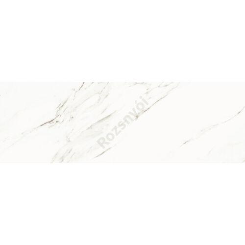 Calacatta 25x75 cm fényes porcelán csempe, falburkolat